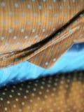 Brown et tissu en soie de luxe bleu Images libres de droits