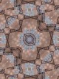Brown Etniczny wzór kalejdoskop abstrakcyjne Obraz Royalty Free