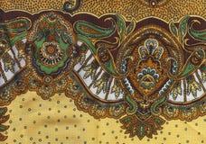 Brown etno fabric Royalty Free Stock Photos