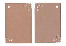 Brown etykietka odizolowywająca na białym tle Obrazy Royalty Free