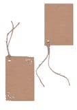 Brown etykietka odizolowywająca na białym tle Zdjęcie Royalty Free