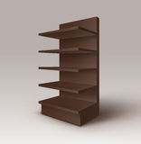 Brown Exhibition Stand Shop Rack with Shelves Royalty Free Stock Photos