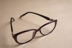 Brown eye Glasses Royalty Free Stock Photos