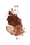 Brown eye shadow crushed sample Stock Image