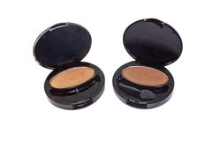 Brown eye shadows Royalty Free Stock Photography