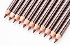 Brown eyebrow pencils. Stock Photos