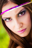 Brown eyed beauty Royalty Free Stock Image