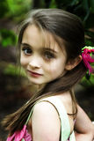 Brown eyed girl Stock Photography