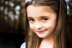 Brown eyed girl royalty free stock photos
