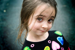 Brown eyed girl stock photos