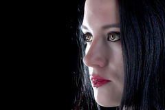 Brown eyed gothic girl Stock Image