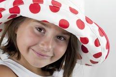 Brown eyed a la muchacha de siete años fotografía de archivo libre de regalías