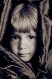 Brown eyes. A young girl with big brown eyes stock photo