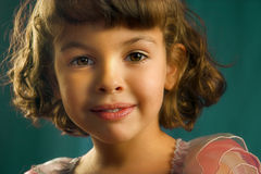 Brown eyes. Beautiful little girl with gorgeous brown eyes stock photo