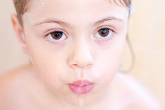 Brown eyes of a child Royalty Free Stock Image
