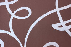 Brown fabric background with abstract pattern Stock Image