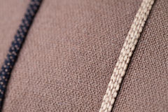 Brown Fabric Lines Royalty Free Stock Images