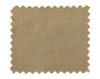 Brown fabric swatch samples isolated on white. Background royalty free stock photo