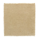 Brown fabric swatch samples isolated on white. Background royalty free stock photos