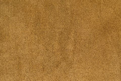 Brown fabric woven texture macro Royalty Free Stock Images