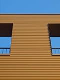 Brown facade. Of a building in the Netherlands Stock Photos