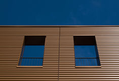 Brown facade. Of a building in the Netherlands Stock Image
