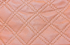 Brown Fake Leather Pattern Background. Stock Image