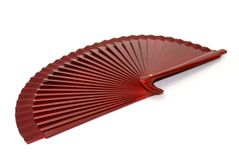 Brown fan. A brown fan for dressing accesorie Stock Images