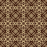 Brown-Farb-Art Nouveau Style Pattern-Design. Ursprüngliches Muster Stockfoto