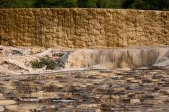 Brown-Farben von Hierve EL-Agua Lizenzfreies Stockfoto