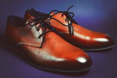 Fashion leather men shoes Stock Images