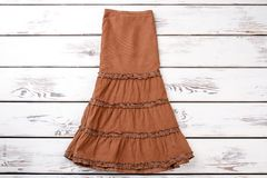 Brown fashionable skirt. Royalty Free Stock Images