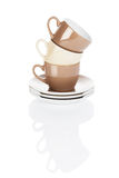 Brown and beige stapled coffee cups Stock Image
