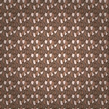 Brown feather  seamless pattern Royalty Free Stock Photos