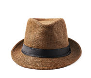 Brown fedora hat isolated Royalty Free Stock Photos