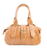 Brown female bag   Isolated Stock Photos