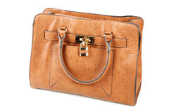 Brown female bags isolated Stock Images
