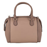 Brown female leather bag isolated on white background Stock Photo