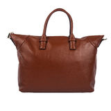 Brown female leather bag isolated on white background Royalty Free Stock Photography