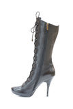 Brown female leather boot Royalty Free Stock Photography