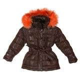 Brown female winter jacket Stock Photography