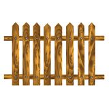 Brown fence. Colorful illustration with  wood brown fence on a white background for your design Stock Images