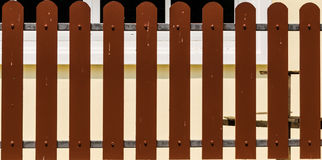 Brown fence royalty free stock photo
