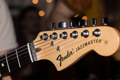 Brown Fender Jazzmaster Guitar Headstock Royalty Free Stock Image