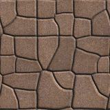 Brown Figured Paving Slabs of Different Value Royalty Free Stock Photo
