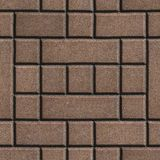 Brown Figured Paving Slabs - Rectangles and Royalty Free Stock Photo