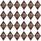 Brown filiżanki diamentowy wzór Fotografia Royalty Free