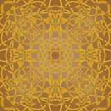 Brown fine patterned tile in art deco design Royalty Free Stock Image