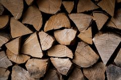 Brown firewood background. Cool looking firewood which can be used as a background stock photography