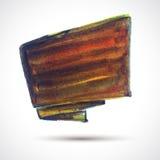 Brown flag. Vector watercolor background. Colorful watercolor texture. Vector handmade design element. Blrown flag. Vector watercolor board Vector Illustration
